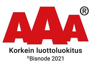 Crauser Oy - Bisnode AAA 2021